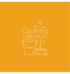 Logo cleaning service vector image