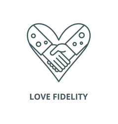 Love fidelity line icon linear concept vector