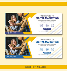 Marketing facebook banner template design vector