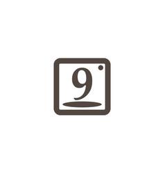 Ninth may calender icon vector