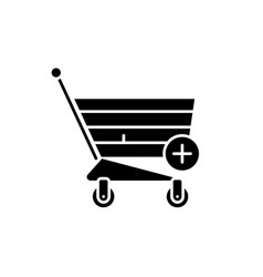 online shopping black icon sign on vector image