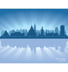 Ottawa Canada skyline silhouette vector image