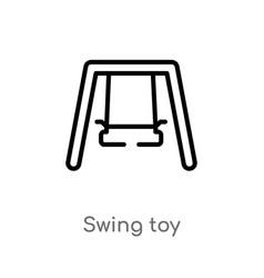 outline swing toy icon isolated black simple line vector image