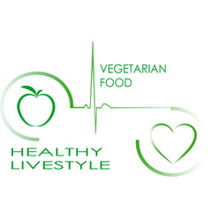 picture promoting a healthy lifestyle vector image