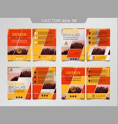 poster flyer pamphlet vector image