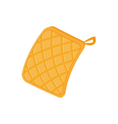 Potholder cloth for hot plates vector