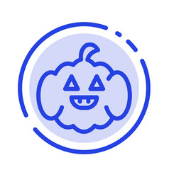 Pumpkin american usa blue dotted line line icon vector
