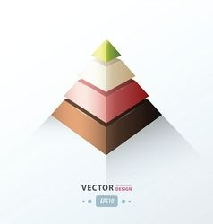 pyramid infographic design vector image