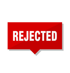 rejected red tag vector image