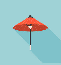 retro paper umbrella in asian vector image