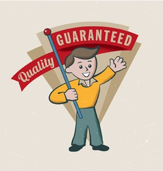 Retro vintage guarantee label vector