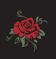 Rose bud image vector