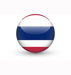 Round icon with national flag of Thailand vector