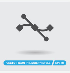 s curve icon simple sign for web site and mobile vector image