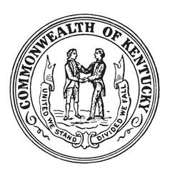 Seal commonwealth kentucky vintage vector