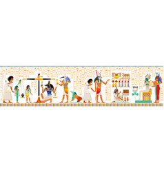 Seamless egyptian papyrus from book dead vector