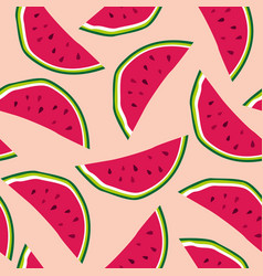 seamless pattern with watermelons background vector image
