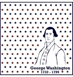 Silhouette George Washington vector image