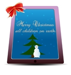 Simple flat Christmas card vector image