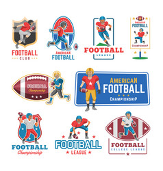 soccer logo footballer or soccerplayer vector image