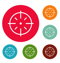 Specific target icons circle set vector