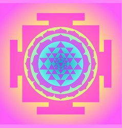 Sri yantra or sri chakra form mystical vector