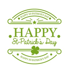 St Patricks Day Emblem vector image