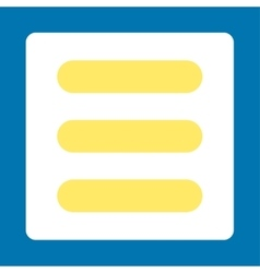 Stack flat yellow and white colors rounded button vector