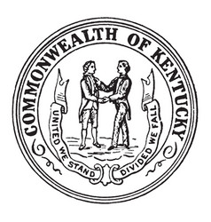 The seal of the commonwealth of kentucky vintage vector