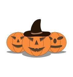 Three sinister pumpkins vector