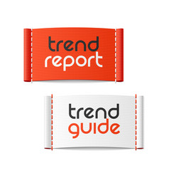 Trend report and trend guide clothing labels vector