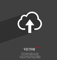Upload from cloud icon symbol Flat modern web vector image