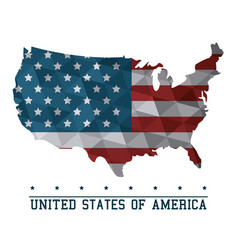 Usa flag map united states of america country vector