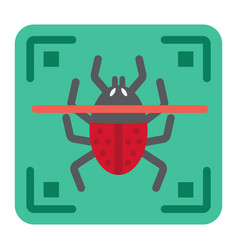 Virus scan flat icon security and antivurus vector