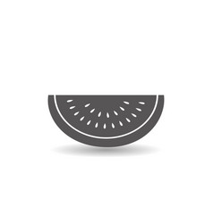 watermelon fruit icon simple flat style vector image