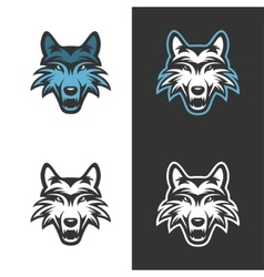 Wolf mascot for sport teams Vintage vector image