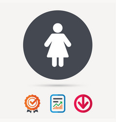 Woman icon female human sign vector