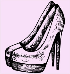 Womens high heels shoes vector image