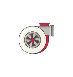 car turbo flat icon vector image vector image