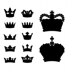 crown silhouettes vector image