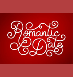 holiday gift card with hand lettering romantic vector image vector image