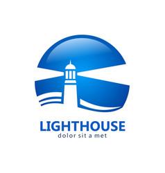 Lighthouse business logo vector