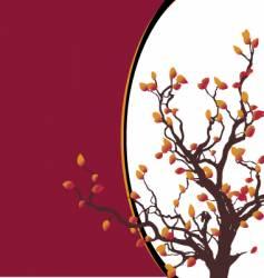 tree border vector image