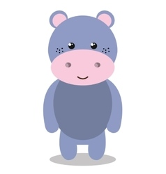 cute hippo isolated icon design vector image vector image
