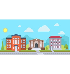 office or administrative buildings vector image