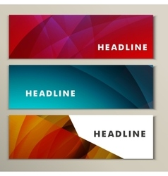 Set abstract backgrounds blue red and yellow vector