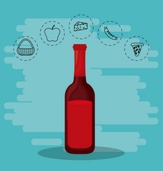 wine for family s vector image vector image