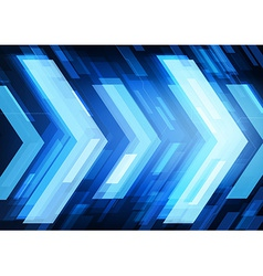 abstract technology arrows vector image vector image