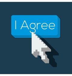 I Agree Button with Arrow Shaped Cursor vector image