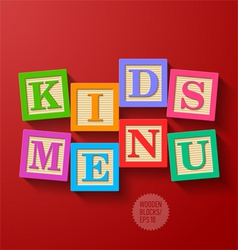 Kids Menu cover vector image vector image